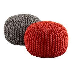 Crochet Ottoman- So comfy!