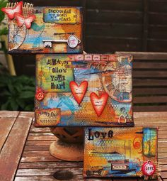 art journal mixed media inspiration The Hobby Room (Michelle Webb): Hels comes up north weekend! Mixed Media Collage, Mixed Media Canvas, Collage Art, Painting Collage, Painting Abstract, Acrylic Paintings, Art Journal Pages, Art Pages, Art Journals