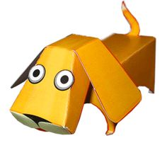 FREE printable cute DOG paper toy / Made in Paperland: Собака из бумаги