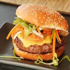 Sweet Barbecue Kim-cheese Burgers