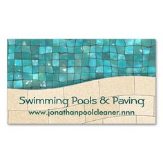 Rural business cards on pinterest business cards card for Swimming pool installation companies