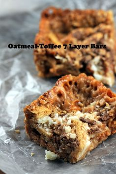 Oatmeal-Toffee 7 Layer Bars