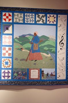 a quilt representing symbols from the underground railroad African Quilts, African Fabric, History Of Quilting, Underground Railroad, Civil War Quilts, Sampler Quilts, Barn Quilts, African American History, African Art