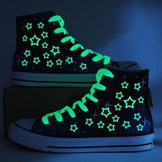Fashion Glow in the Dark Stars Shoes High Top by CrazyPoem on Etsy