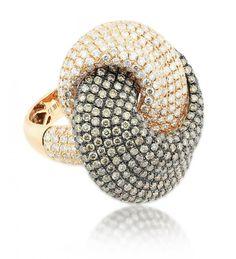 DIAMOND & BROWN DIAMOND RING
