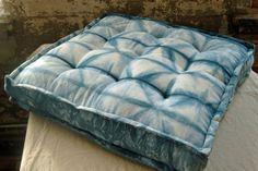Large Indigo Shibori Floor Pillow Dog Bed by territoryhardgoods