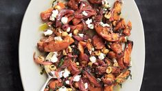 Roasted Butternut Squash with Spicy Onions - Bon Appétit. Make this dish ahead of time. It's great at room temperature, and you'll need the oven free to roast the potatoes. Vegetable Side Dishes, Vegetable Recipes, Veggie Side, Scones, Onion Recipes, Potato Recipes, Roasted Butternut Squash, Pumpkin Recipes, Bon Appetit