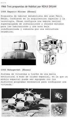 """Bibliografía: 01 Ekuan, Kenji, 1965, """"Systems """", Architectural Design 1967, Mayo, 02 Ekuan, Kenji, 1970, """"Systems"""", Architecture d'Aujorud'huiA, Feb,March, pp.82-83. 01 Bauwelt Mayo 1969 Número 18 PUBLICADO POR PKMN [PAC-MAN] WWW.PKMN.ES EN 7:02:00 P.M. ETIQUETAS: 1966, EKUAN, METABOLISMO, VIVIENDA FUTURA"""