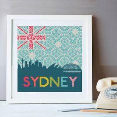 Sydney Skyline Cross Stitch Kit - Design Copyright Jacqui Pearce - www.JacquiP.com