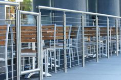 I love this pic of our round stainless steel hand rail.  Would you want this system on your home deck? ... I would.