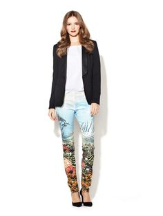 The Looker Printed Skinny Jean by Mother Denim on Gilt.com