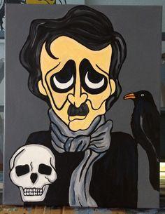 Edgar Allen Poe by Rebelreneesart on Etsy