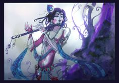 Krishna - The Blue God by Abhishek Singh