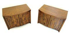 BRUTALIST Pair ofNightstands by Lane Paul Evans, Lane Furniture, Brutalist, 1970s, Nightstands, Mid Century, Pairs, Handmade Gifts, Table