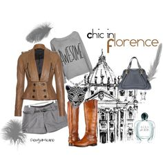 """""""Chic in Florence"""" by furettina on Polyvore"""