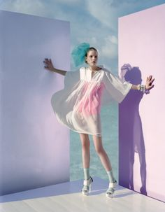 javier vallhonrat, british vogue styling, pops of neon, fashion, the inspiration files