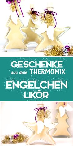 A great gift from the kitchen and the Thermomix ;-) - Engelchen liqueur, also called liquid marzipan, is an amaretto-based liqueur. Smoker Recipes, Grilling Recipes, Diy Gifts, Great Gifts, Homemade Advent Calendars, Kitchen Witch, Refreshing Drinks, Party Snacks, Diy Food