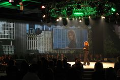 """Lucion - """"Annual launch of Desjardins Insurances"""", video projection on multiple screens http://www.lucionmedia.ca"""