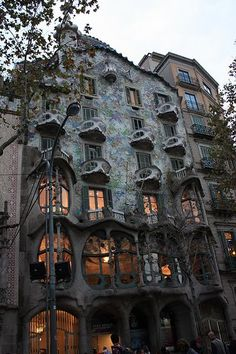 Casa Batlló, in Barcelona, Spain. The inspiration for Whipstaff Manor.