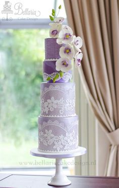 Trendy Birthday Cake For Husband Fondant Galleries 46 Ideas Purple Wedding Cakes, Lilac Wedding, Amazing Wedding Cakes, Elegant Wedding Cakes, Elegant Cakes, Wedding Cake Designs, Amazing Cakes, Purple Cakes, Pretty Cakes