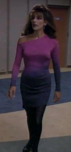 Councillor Deanna Troi - Marina Sirtis - Star Trek, The Next Generation Star Trek Klingon, Star Trek Starships, Star Trek Cast, Star Trek Voyager, Deanna Troi, Marina Sirtis, Star Trek Images, Star Trek Characters, Star Trek Original Series