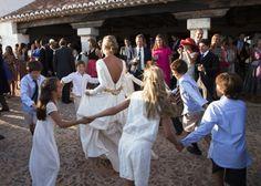 Novia con cinturón de Rocio Porres en Casilda se casa