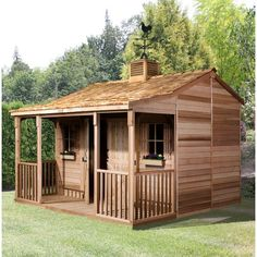 THE CEDARSHED RANCH HOUSE shed kits offer you a wonderful new living space in your backyard. Prefab cottage kits are available in 4 sizes and are made of Western Red Cedar. What an amazing addition to your back yard. Storage Shed Kits, Wood Storage Sheds, Barn Storage, Small Storage, Outdoor Storage, Cedar Shed, Wood Shed, Prefab Cottages, Cottage Kits