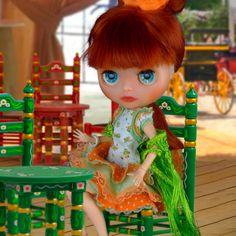Blythe dress, Blythe clothes, flamenco dress outfit for Neo blythe Dress Outfits, Nice Dresses, Barbie, Dolls, Disney Princess, Cute, Handmade, Etsy, Clothes