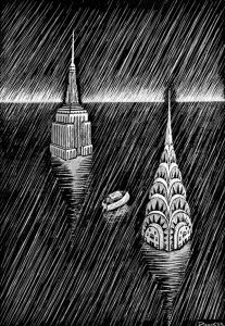 """Published for the first time in 1992, """"Flood! A novel in pictures"""" is a silent story told through images by American artist Eric Drooker."""