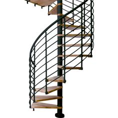 Alluring Home Interior Design With Various Wrought Iron Spiral Staircase Kit: Astonishing Picture Of Home Interior And Exterior Decoration Using Black Wrought Iron Spiral Staircase Including Floating Oak Wood Staircase Step And Black Metal Staircase Spindles ~ fendhome.com Interior Inspiration