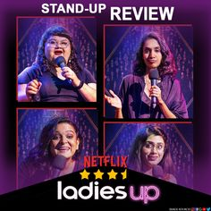Four ladies, one stage, one theme. Netflix's latest comedy special, Ladies Up is our on the channel. Is it worth a watch? Find out. Netflix Review, Latest Comedy, Comedy Specials, Stand Up Comedy, Laugh Out Loud, Laughter, Stage, Channel, Watch