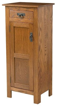 Amish Outlet Store : Mission Jelly Safe w/Drawer in Rustic Cherry