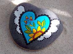 Fairy Tale Love Heart / Painted Rock / Sandi Pike Foundas / Cape Cod / Beach Stone