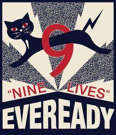 """Nine Lives"" Eveready Battery"