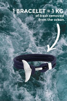 Handcrafted whale tail bracelets, available in a range of colours. Same day shipping. Every bracelet removes 1kg of plastic from the ocean. Live tracking updates of the plastic cleanup are provided. Help us, help them. Cute Jewelry, Jewlery, Gold Jewellery, Turtle Sanctuary, Sea Whale, Do It Yourself Inspiration, Marine Conservation, Whale Tail, Cool Things To Buy