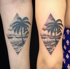 Landscape+sibling+tattoos+by+Melissa+Baker