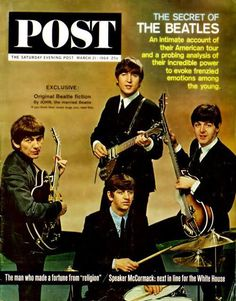 The Beatles in The Saturday Evening Post magazine March 21, 1964