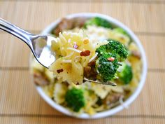 Spicy Sausage and Broccoli Pasta - Budget Bytes Sausage Broccoli Pasta, Spicy Spaghetti, Vegetarian Recipes, Healthy Recipes, Meal Recipes, Spicy Sausage, Turkey Sausage, Everyday Food, Healthy Foods To Eat