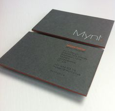 Mynt Design / Business card / GFSmith Papers / Triplex / 1240gsm