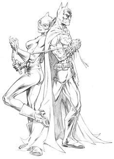 Batman and Catwoman by RandyGreen.deviantart.com on @deviantART