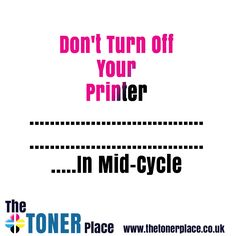 Don't switch off your printer until it completes its cycle. If you turn it off while the cartridge is still moving, the printer's head will be forced to stop in the precise place where you turned it off. This may cause the printer nozzle to dry out and the ink to leak.