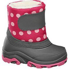 #Cortina #Schnee #Boots #pink für #Kinder Online exklusiv Warmfutter mit Klettverschluss Farbe grau pink Laufsohle TR Obermaterial Textil Innenmaterial 100% Polyester