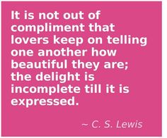 CS Lewis gets it!