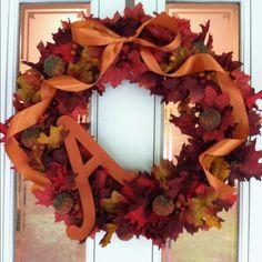 My homemade letter wreath!
