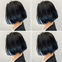 New hair styles bob bangs ideas Hair Color Streaks, Hair Dye Colors, Ombre Hair Color, Hair Color For Black Hair, Purple Hair, Shot Hair Styles, Long Hair Styles, Hidden Hair Color, Aesthetic Hair