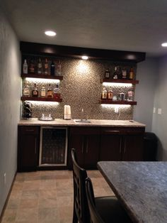 Walk up bar basement …