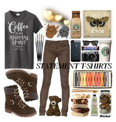 """Statement T-Shirts"" by michal100-15-4 ❤ liked on Polyvore featuring Cost Plus World Market, Bos. & Co., L'Occitane and statementtshirt"