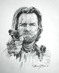 Western Pencil Art Drawings | ... Josey Wales Drawing - Clint Eastwood Josey Wales Fine Art Print