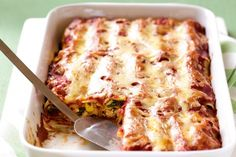 Create a stylish cannelloni bake at home with this simple, low-fat recipe.