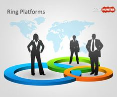 Free Ring Platforms Template for PowerPoint presentations is a free PowerPoint template with colorful rings in the PowerPoint slide design and silhouettes that you can use to represent a business relationship or scenario in PowerPoint